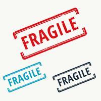 fragile rubber stamp in vector
