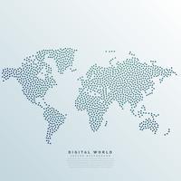 wereldkaart gemaakt met stippen