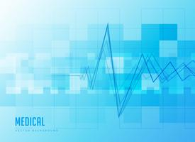 blue medical background with heartbeat line