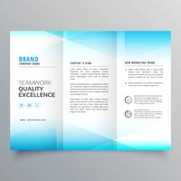 modern business trifold brochure design in minimal style