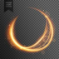 circular golden lens flare transparent light effect sparkling ba