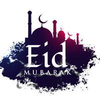 forma della moschea nella priorità bassa del grunge per il festival di Eid