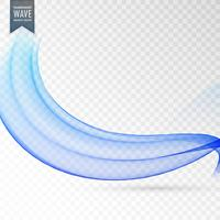 elegant blue wave vector background design