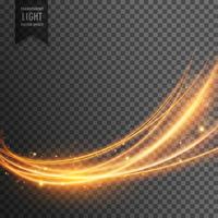 abstract transparent light effect in wave style