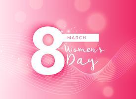 Fondo rosado hermoso del día de la mujer internacional del diseño
