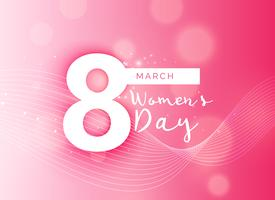 beautiful pink international woman's day design background