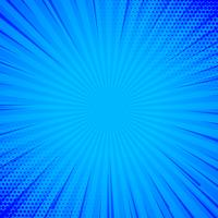 blue comic background with lines and halftone