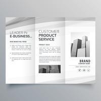 modelo de design de brochura com três dobras para o seu negócio