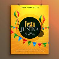 festa junina invitation poster design template
