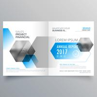Plantilla de página de portada de negocio creativo moderno con geome abstracto