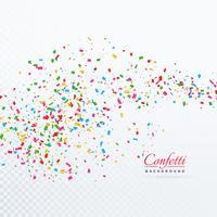 Fondo transparente de confeti pequeño abstracto