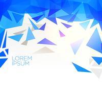 Fondo de vector de forma de triángulo abstracto azul creativo