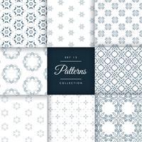 conjunto padrão abstrato de 8 estilos diferentes