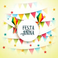 june party festa junina celebration greeting background