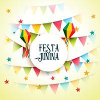 Fondo de saludo de celebración de fiesta de junio fiesta de junina