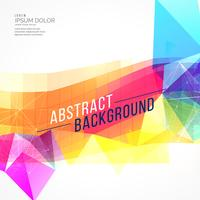 abstract colorful poly and mosaic shape background