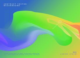diseño de plantilla abstracto con colores verdes y azules