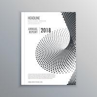 Broschürenflyer-Design mit Halbtoneffekt