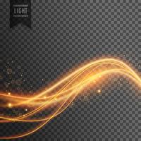 lichteffect van gouden lichtgolven met fonkelingen