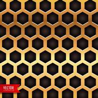 patrón de panal en color dorado
