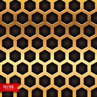 honeycomb pattern in golden color