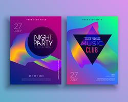 template for music concept flyer design