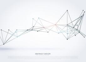 Fondo de estilo abstracto geométrico tecnología poligonal