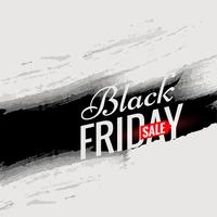black friday sale poster template with black ink in grunge style