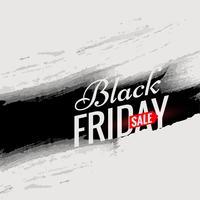 Plantilla de cartel de venta de viernes negro con tinta negra en estilo grunge