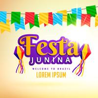 conception d'affiche de vacances festa junina