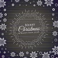 fundo de festival de Natal com moldura de flocos de neve