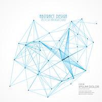 Fondo de vector de malla de alambre digital abstracto