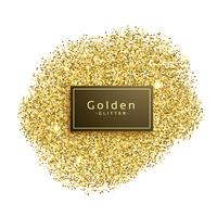 gold glitter sparkles on white background