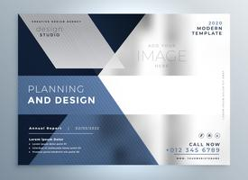 abstract business flyer presentation template design