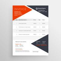 invoice template design for your company business