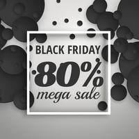 amazing black friday sale poster banner with dark circles and fr