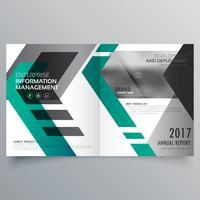 design de modelo de layout de folheto com formas geométricas