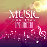 musikfestinbjudan bakgrundsdesign