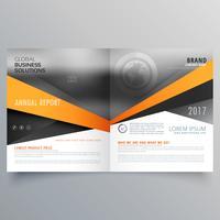 abstraktes Bifold Business Template Design mit Platz für Ihre Ima