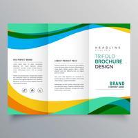 modelo de design de brochura de negócios com três dobras criativo