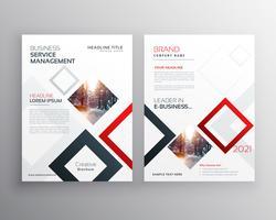 modelo de design de folheto empresarial moderno folheto com sha abstrata
