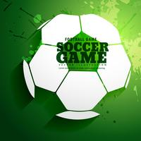 abstract soccer game sports background design