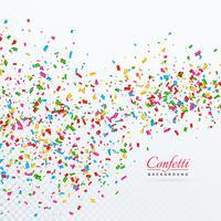 confetti colroful e fitas caindo de fundo vector