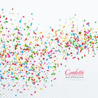 colroful konfetti och band fallande vektor bakgrund