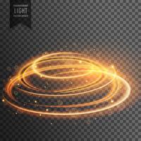 glödande linsflamma genomskinlig ljus effekt med gnistar