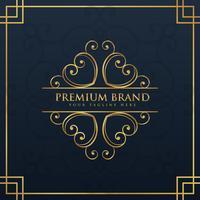design do logotipo do monograma para marca premium e de luxo