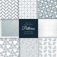 colección de patrones geométricos en vector