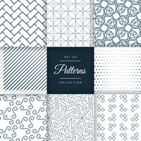 geometric pattern collection in vector