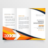 orange business dreifach gefaltete Broschüre Broschüre Design Flyer jährliche Re