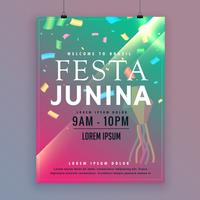 Plantilla de volante de fiesta junina para festival brasileño